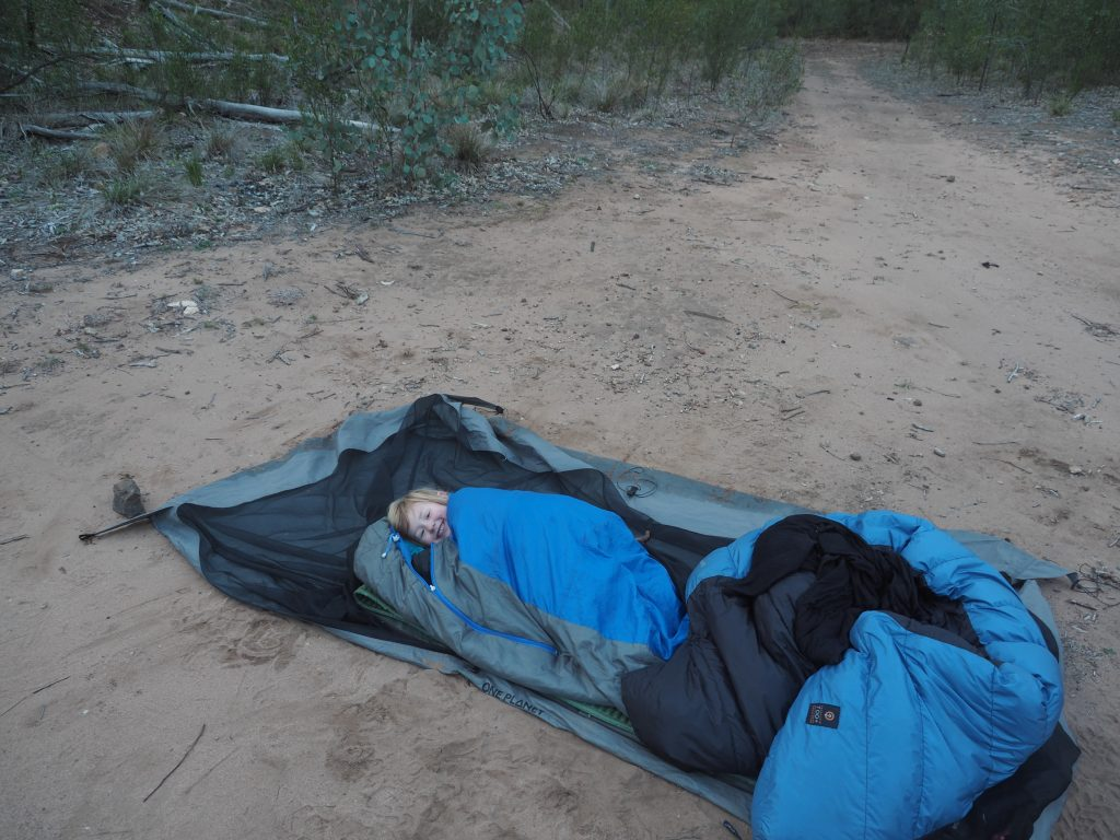 C refusing to get out of bed at Camp Pincham