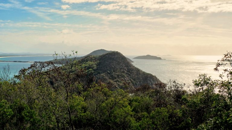 View of Tomaree Headland from Stephens Peak.