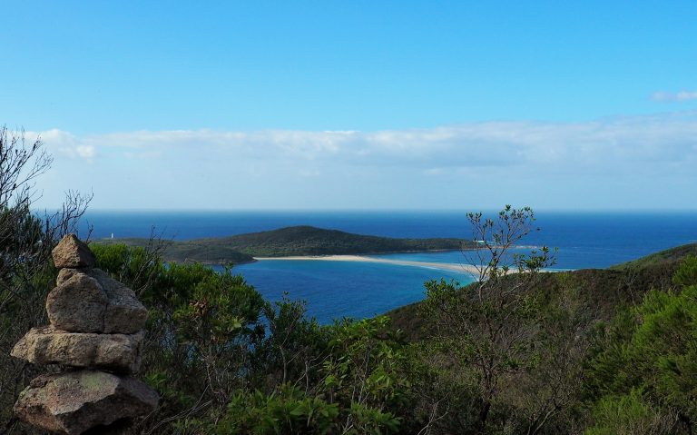 View of Fingal Spit and Point Stephens